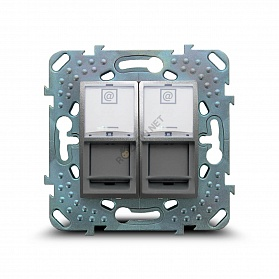 Schneider-Electric Unica Top Розетка компьютерная RJ45 Cat.6 (UTP), двойная